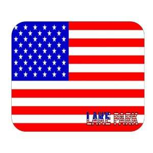 US Flag   Lake Park, Florida (FL) Mouse Pad Everything