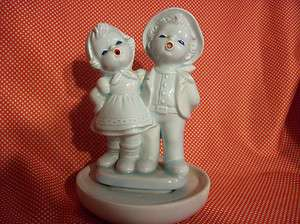 1967 Made in Japan Boy & Girl Blue Figurine by Home Decorative