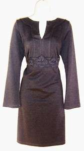 MSSP MAX STUDIO Gray Ponte Knit Dress 2X 18 NWT