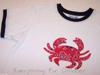 Boys KELLYS KIDS shirt 10 12 NWT crab t boutique top