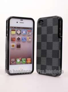 Leather Hard Case Cover for Apple iPhone 4S 4G AT&T CDMA no.LV1G
