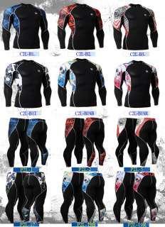 mens Sports base layer Skin compression clothing shirt or pants