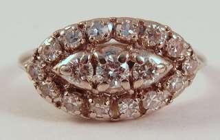 Antique Art Deco 14k White Gold Diamond Wedding Band Ring SPECTACULAR