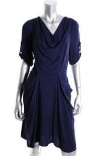 BCBG Maxazria NEW Blue Versatile Dress Stretch Embellished S