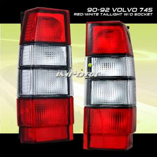85 92 VOLVO 740 745 760 940 960 RED/CLEAR TAIL LIGHTS