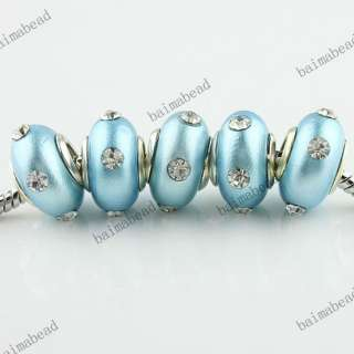 Wholesale Fimo Polymer Clay Crystal European Beads Fit Charm Bracelet