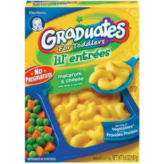 Gerber Graduates Lil' Entrees Macaroni & Cheese Complete Meals 6.6