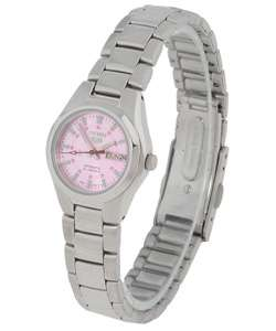 Pink Dial Stainless Steel Automatic Sport Watch