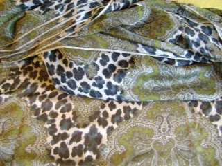 Couture Ratti Pure SILK LEOPARD Print Italy Fashion Fabric BTY