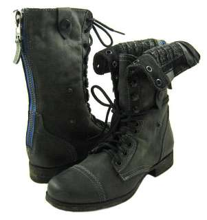 NEW Steve Madden Women Cablee Black Roll Style Boots US SIZES