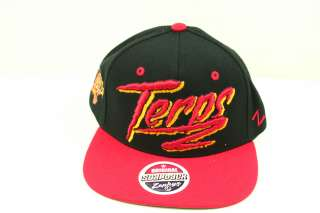 Maryland Terrapins Black and Red Razzle Snapback Hat from Zephyr