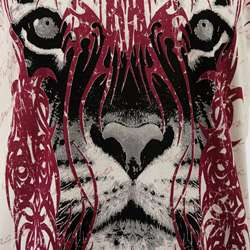 & Royalty Mens Tiger and Tribal Tattoo T shirt