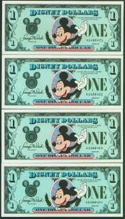 1987 $1 Disney Dollar consecutive #s A **MINT**