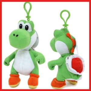 Super Mario YOSHI Plush Doll Key Chain w/Coin Bag 7