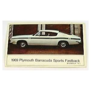 1969 Plymouth BARRACUDA SPORTS FASTBACK S POSTCARD