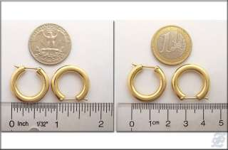 o1659   BRAND NEW 18K SOLID YELLOW GOLD HOOP EARRINGS