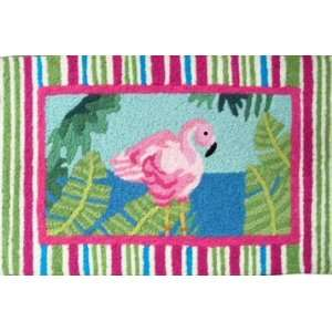 Pink Flamingo Bird home art decor woven kitchen area rug