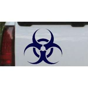 6in X 5.6in Navy    Bio Hazard Warning Car Window Wall Laptop Decal