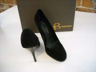 WOW B Makowsky BLACK SUEDE Neve PUMPS 8.5 NEW
