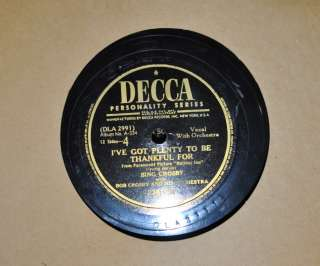 Vintage Bing Crosby 6 Record Album Set Decca