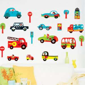 TRANSPORTATION Cars Home Wall Decals Sticker Art Decor