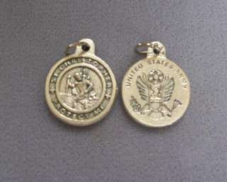 ARMY St. Saint Christopher Holy Medal Charm 3/4
