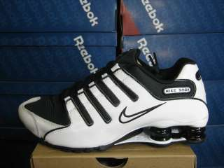 NIKE MENS SHOX NZ WHITE BLACK