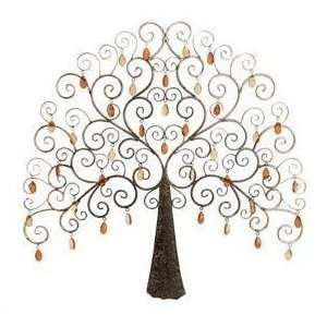 Nabi Crystal Tree Metal Wall Art Decor Sculpture