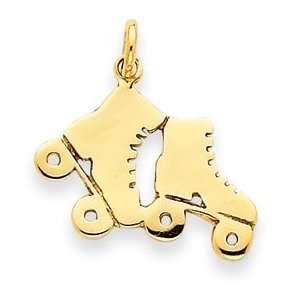 IceCarats Designer Jewelry Gift 14K Roller Skates Charm Jewelry