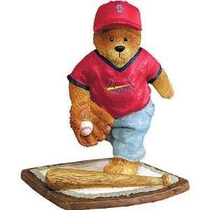 Saint Louis Cardinals MLB Football Bear Figurine