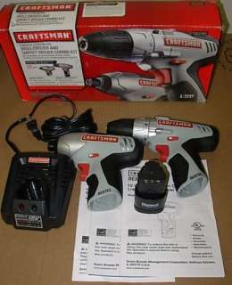 Craftsman 12.0 Volt Lithium Ion Drill and Impact Combo Kit  30285