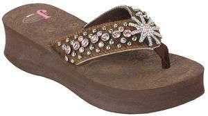 Justin Jeweled Crystal Flip Flop Sandals Leather Audrey