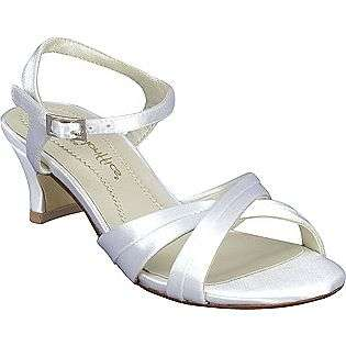 Womens Hannah   White Satin  Dyeables Shoes Womens Evening & Wedding