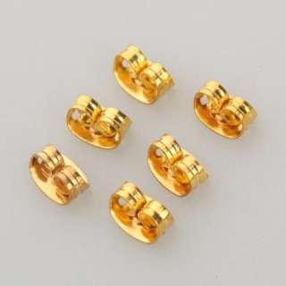 100 Pcs Popular Gold Plated Butterfly Findings Earring Backs Ear Nut