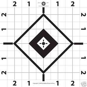 100 6 Rifle Paper Target Great for Sighting in Scope