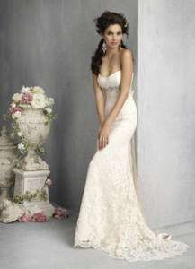 New White/Ivory Lace Wedding Dress Bridal Gown Stock Size 6 8 10 12 14