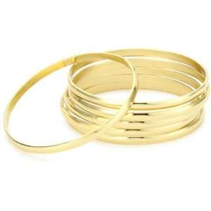Jules Smith Festival 14k Gold Plated Bangle Bracelet Set Jewelry