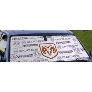 Dodge Motorsports   Cool White Front Window Car Sun Shade Automotive