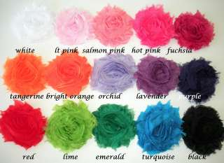 Frayed Chiffon Flowers for Headbands, Hair Clips, Trims,    GRAB BAG