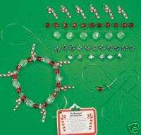 Christmas Candy Cane Charm Bracelet Kids Craft Kit