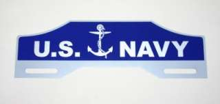 US NAVY License Plate Tag Topper Chevy FORD Rat Hot Rod
