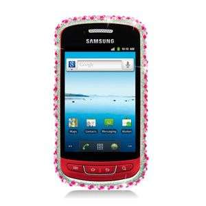 PINK HEART BLING HARD CASE FOR SAMSUNG ADMIRE R720 PROTECTOR SNAP ON