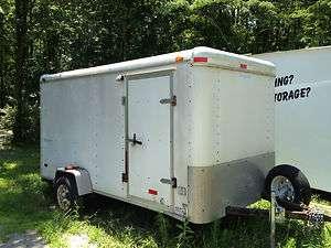 6x12 Haulmark Enclosed Cargo Trailer Side Door Rear Ramp White