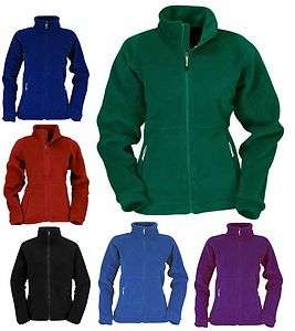 Ladies Full Zip Classic Fleece Jackets Sizes 8 to 30 SUITABLE FOR WORK