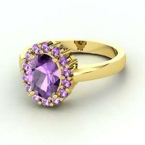 Penelope Ring, Oval Amethyst 14K Yellow Gold Ring Jewelry