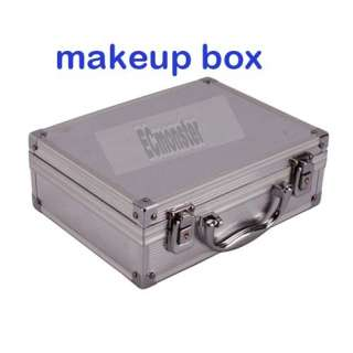 New Aluminum Fashion Mirrored Jewelry Cosmetic Makeup Case Box Silver