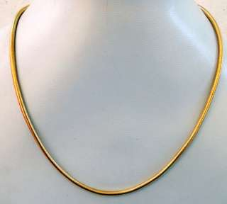 ESTATE 18 KARAT SOLID GOLD ROPE CHAIN NECKLACE. FULL HANDCRAFTED