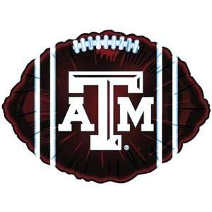 Texas A&M TAMU Aggies 18 inch Maroon Microfoil Balloon: Sports