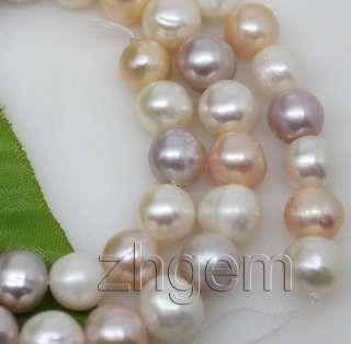 8mm natural white pink lavender pearl loose beads gem 14.5long