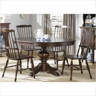 LibertyFurniture River Street Formal Dining Round Table Set in